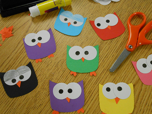 Owl Paper Craft Instructions